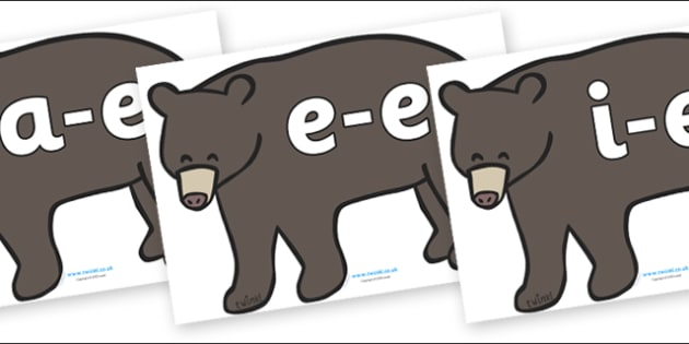Modifying E Letters on Grizzly Bears - Modifying E, letters, modify, Phase 5, Phase five, alternative spellings for phonemes, DfES letters and Sounds