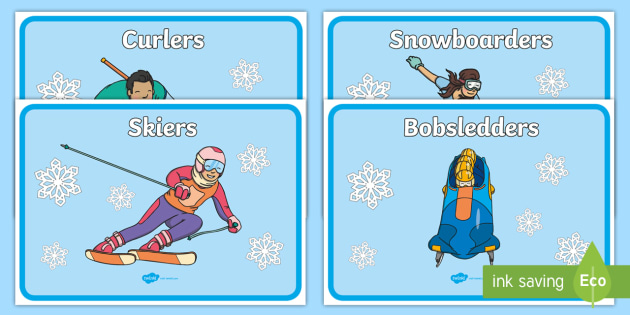 Winter Olympics Group Signs - winter, olympics, signs, labels
