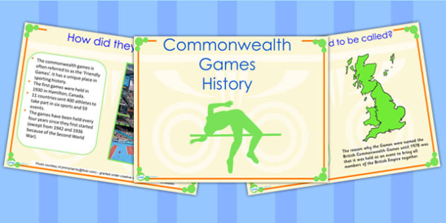 History of the Commonwealth Games PowerPoint - sports, pe, sport