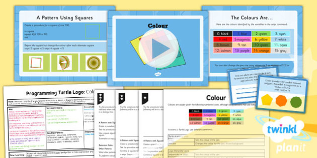 Computing: Programming Turtle Logo: Colour Year 4 Lesson Pack 3
