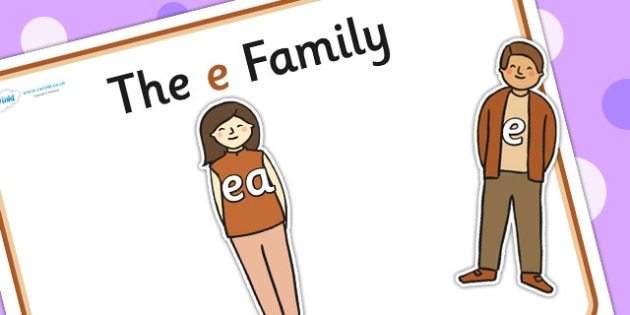 E Sound Family Cut Outs - sound families, sounds, cutouts, cut