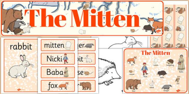 The Mitten Story Sack - the mitten, story sack, story, sack, mitten