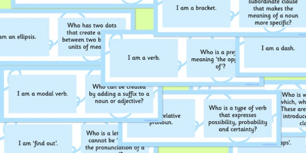 Vocabulary Grammar and Punctuation Class Loop Game Upper KS2