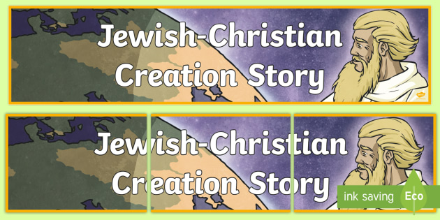 Jewish Christian Creation Story Display Banner - religion, header
