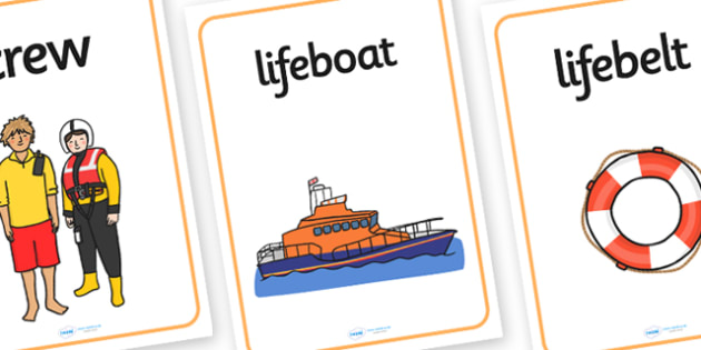 Lifeboat Station Display Posters - Life boat Role Play, life boat resources, seaside, seaside rescue, power boat, first aid, people who help us, role play, display, poster, Display Posters, A4, display, posters,