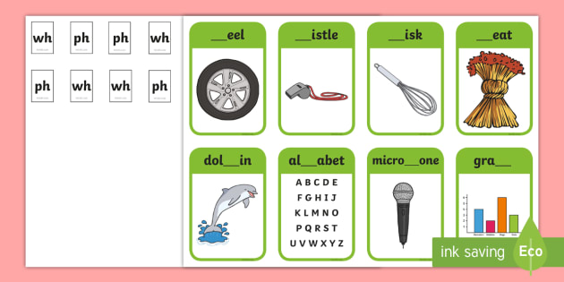 Phase 5 Digraphs Wh Ph Matching Peg Activity Teacher Made