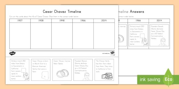 new cesar chavez timeline activity sheet united farm