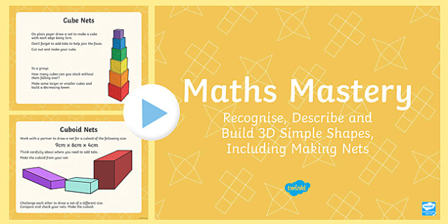 Year 6 Geometry Shape 3D Shapes Maths Mastery Activities PowerPoint
