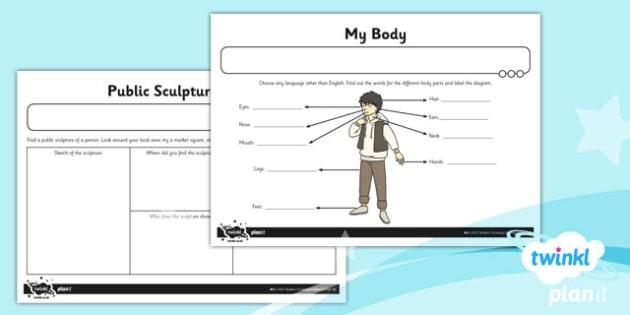 Art: Bodies LKS2 Unit Home Learning Tasks