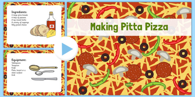 Making Pitta Pizza Recipe EYFS PowerPoint - EYFS planning, Early years activities, traditional tales, food