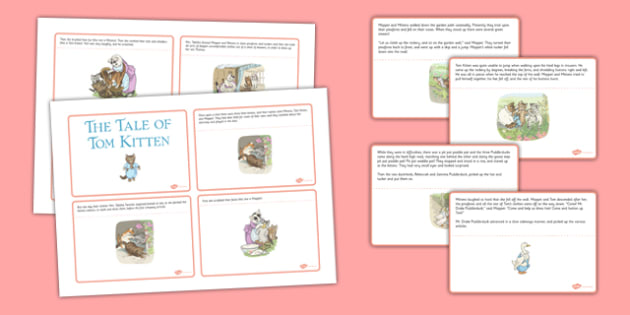 Beatrix Potter - The Tale of Tom Kitten Story Cards - beatrix potter, tom kitten