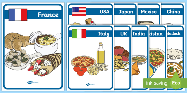 Foods Around The World Display Posters - foods, around, world, display posters, display