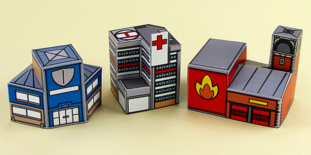 picture about Free Printable 3d Buildings titled Us citizens Who Guidance Us 3D Structures Printable - All those who guidance