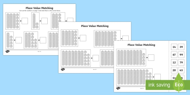 place value tens and ones to 100 cut and stick worksheet worksheet place. Black Bedroom Furniture Sets. Home Design Ideas