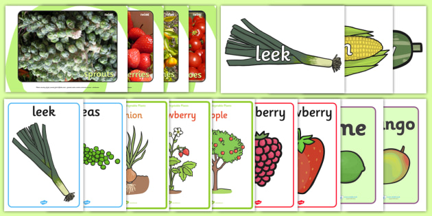 photograph about Printable Fruit and Vegetables named Fruit and Greens Pics Pack