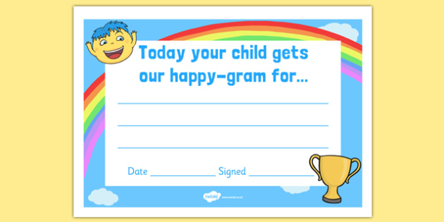 Happy Gram Certificate - happy gram, certificate, happy, gram, award, praise