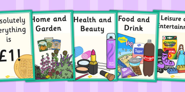 Pound Shop Role Play Posters - pound shop, role-play, posters