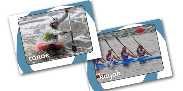 The Olympics Canoeing Display Photos - Canoeing, Olympics, Olympic Games, sports, Olympic, London, 2012, display, photo, photos, poster, sign, banner, activity, Olympic torch, events, flag, countries, medal, Olympic Rings, mascots, flame, compete