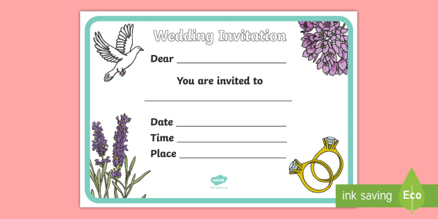 Design a wedding invitation wedding weddings fine motor design a wedding invitation wedding weddings fine motor skills colouring designing stopboris Gallery