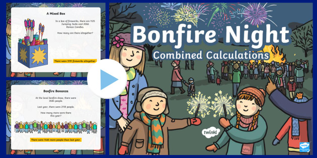 LKS2 Bonfire Night Combined Calculations PowerPoint