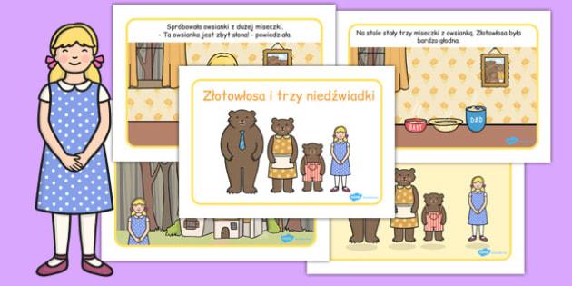 Zlotowlosa i trzy niedzwiadki po polsku (format A4) , Polish