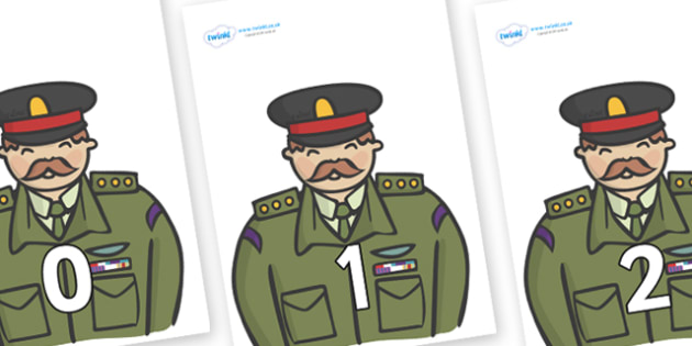 Numbers 0-50 on Generals - 0-50, foundation stage numeracy, Number recognition, Number flashcards, counting, number frieze, Display numbers, number posters