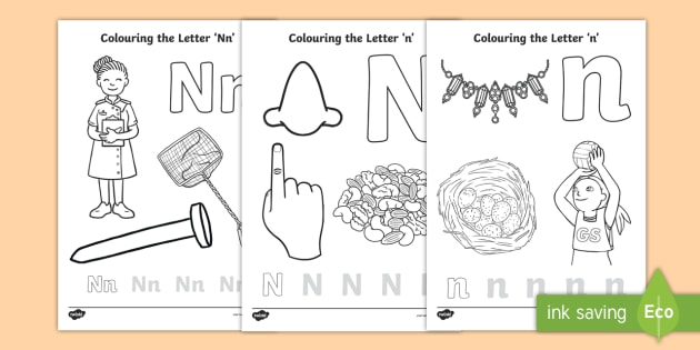 Letter N Coloring Pages Teacher Made