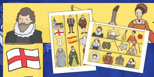 The Tudors Display Borders - Tudors, Henry, history, Henry VIII, display border, classroom border, border, Tudor, England, Queen Elizabeth I, Church of England, reformation