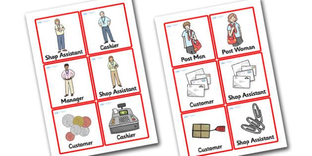 Jolly Post Office Role Play Badges to Support Teaching on the Jolly Postman - jolly, post, office, post office, role, play, role play, badges, post office badges, role play badges,