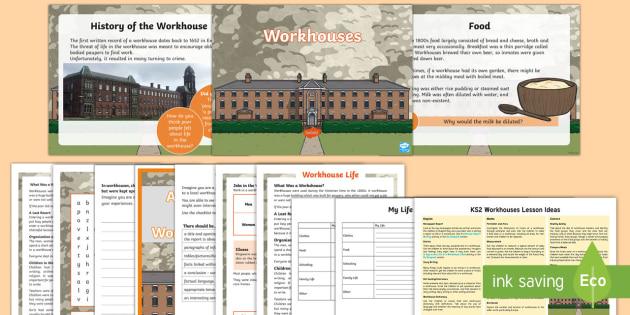 KS2 Workhouses Lesson Teaching Pack - KS1 & KS2 Workhouses