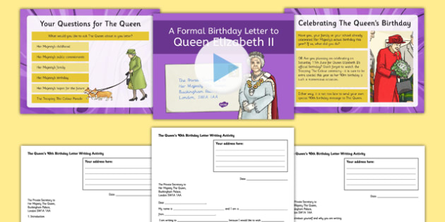 the queens birthday letter writing resource pack