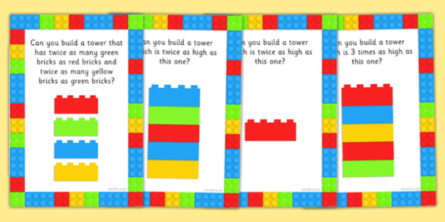 Multiplication as Scaling Building Challenge Cards - multiplication, scaling, building, challenge cards