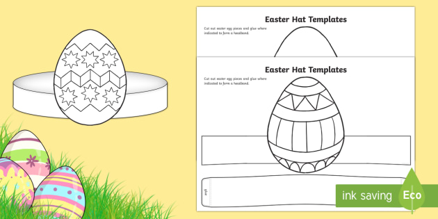 Easter Hat Templates Worksheet Worksheet Easter Easter Hats Hat