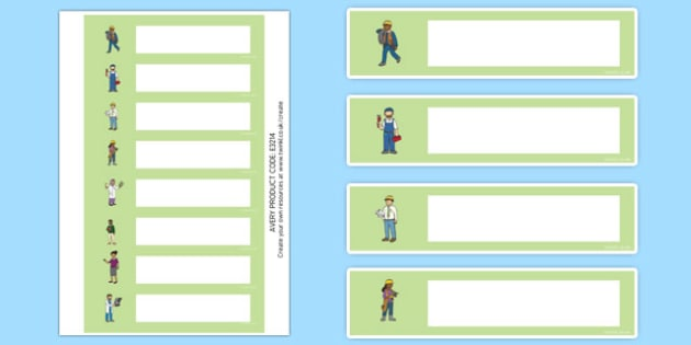 People Who Help Us Themed Editable Gratnells Tray Labels - sign