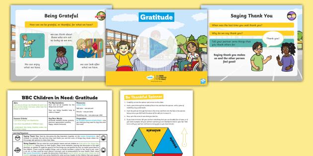 KS1 BBC Children in Need Gratitude Lesson Pack