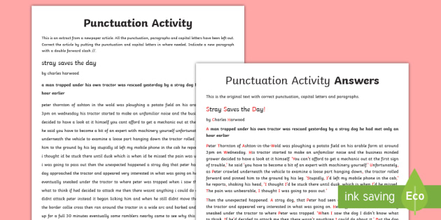 gcse punctuation correction worksheet activity sheet spelling. Black Bedroom Furniture Sets. Home Design Ideas