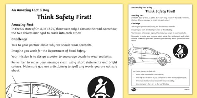 think safety first worksheet worksheet worksheet. Black Bedroom Furniture Sets. Home Design Ideas