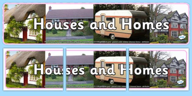 Houses and Homes Photo Display Banner - houses, home, photo display banner, photo banner, display banner, banner,  banner for display, display photo, display