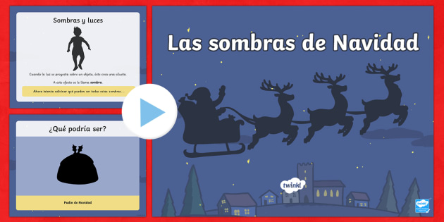 Christmas Themed Shadow PowerPoint-Spanish - Christmas Spain, shadow, themed, vocabulary, powerpoint, introduction, game,Spanish - Christmas Spain, shadow, themed, vocabulary, powerpoint, introduction, game,Spanish