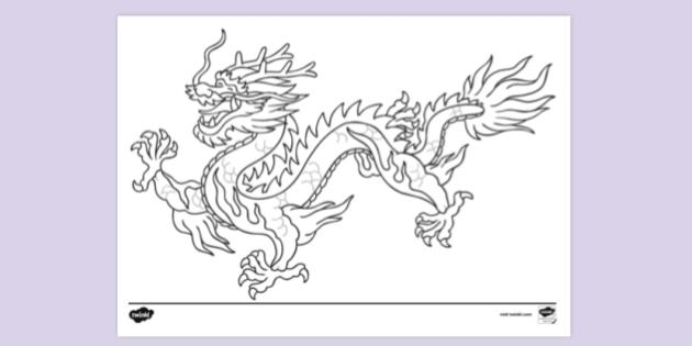 Free Chinese Dragon Colouring Pages Colouring Colouring Sheets