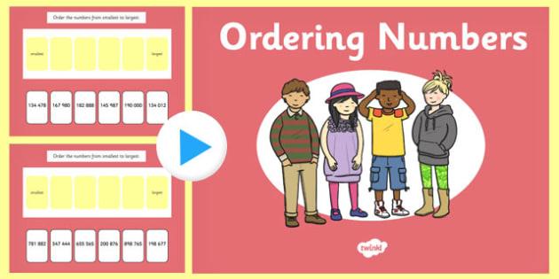 Ordering 3 Digit Numbers PowerPoint - ordering, digit, numbers