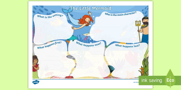 The Little Mermaid Story Review Writing Frame Australia
