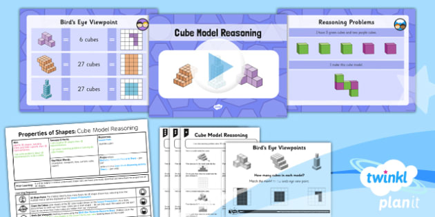 PlanIt Maths Y5 Properties of Shapes Lesson Pack 3D Shapes from 2D Representations (2)