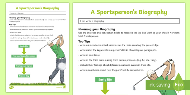 Sporting Heroes of Northern Ireland Biography Writing Template