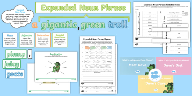 Year 2: What Is an Expanded Noun Phrase? Resource Pack