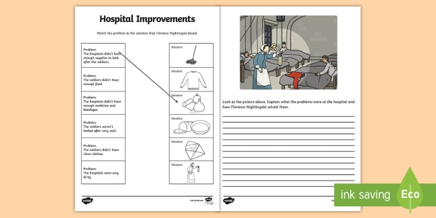 Florence Nightingale Hospital Improvements Activity Sheet - sheet, worksheet