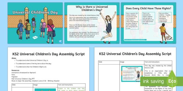 KS2 Universal Children's Day November 20th Assembly Pack