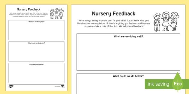 parent and carer feedback letter