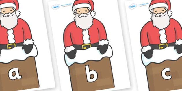 Phase 2 Phonemes on Santa (Chimney) - Phonemes, phoneme, Phase 2, Phase two, Foundation, Literacy, Letters and Sounds, DfES, display