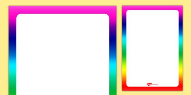 Rainbow Themed Editable Display Poster - rainbow, editable, display, poster
